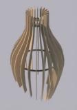 Dřevěný lamelový lustr - kapka