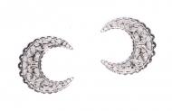 Kovový ornament - stříbrný měsíc