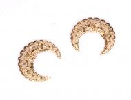 Kovový ornament - zlatý měsíc