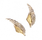 Kovový ornament - zlatá křídla
