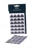 Papírové rožky stříbrné - 72 ks