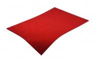 Barevná dekorativní plsť (filc) červená A4