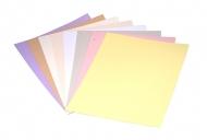 Barevné papíry pro vyřezávání a embosing světlý set