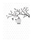 Embosovací kapsa - Ptačí klec na větvi