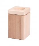 Dřevěný svícen na čajovou svíčku čtverec 10 cm