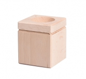 Dřevěný svícen na čajovou svíčku čtverec 7 cm