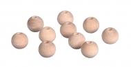 Dřevěné korálky 12 mm - 10 ks