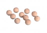 Dřevěné korálky 16 mm - 10 ks