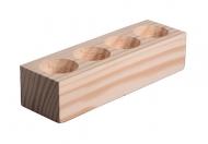 Dřevěný svícen na 4 čajové svíčky Borovice