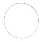 Drátěný kruh na lapač snů růžový - průměr 50 cm