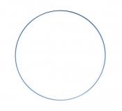 Drátěný kruh na lapač snů modrý - průměr 50 cm