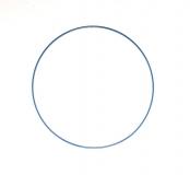 Drátěný kruh na lapač snů modrý - průměr 40 cm