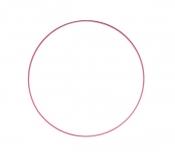 Drátěný kruh na lapač snů růžový - průměr 40 cm