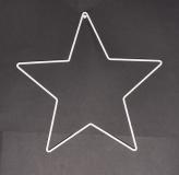 Drátěná hvězda na lapač snů bílý 31 cm