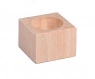 Dřevěný svícen Buk 4 cm