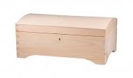 Dřevěná krabička se zaobleným víkem uzamykatelná