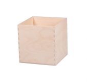 Dřevěná krabička krychle 10x10