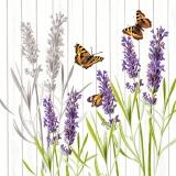 Ubrousek 33x33 - Levandule motýli