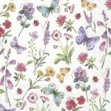 Ubrousek 33x33 - motýli květiny mix