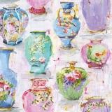 Ubrousek 33x33 - Vázy malba