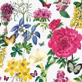 Ubrousek 33x33 - Náruč květin s motýli