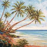Ubrousek 33x33 - Palmy na pláži