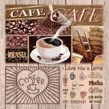Ubrousek 33x33 - Variace kávy