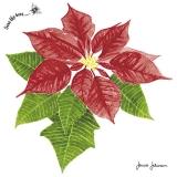 Ubrousek 33x33 - Vánoční hvězda