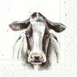 Ubrousek 33x33 - Zvířata na statku Kráva