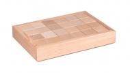 Dřevěné kostky v krabici 24 ks
