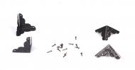 Kovové rožky na krabičky - starožitná mosaz 4ks