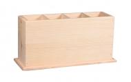 Stojánek na vařečky dřevěný 29x9x15-4 přihrádky