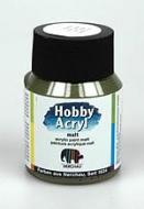 Akrylová barva - matt olivová