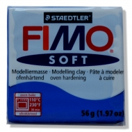 Fimo soft - modrá 56g