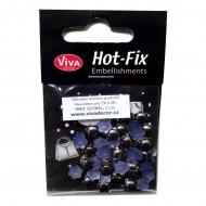 Hot-Fix nýtky - květinky železné 8 mm
