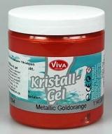 Křišťálový gel - metalický zlatooranžový 250 ml