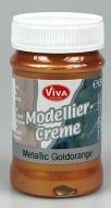 Modelovací krém - metalický zlatooranžový 90 ml