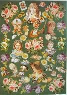 Papíry na decoupage - květiny, děti