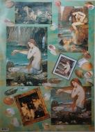 Papíry na decoupage - mořské panny