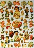 Papíry na decoupage - panenky, květiny
