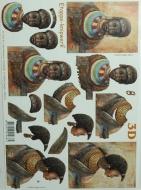 Papíry na decoupage 3D - afričanka 3