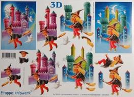 Papíry na decoupage 3D - čarodějové