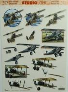 Papíry na decoupage 3D - letadlo