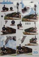 Papíry na decoupage 3D - lokomotiva 2