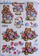 Papíry na decoupage 3D - medvídek
