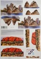 Papíry na decoupage 3D - opera v Sydney