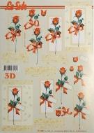 Papíry na decoupage 3D - růže 7