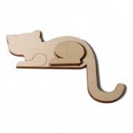 Předměty překližka - kočka roh