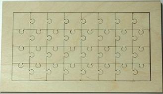Puzzle překližka - 24x12 cm
