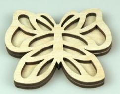Razítko na textil - motýl 1
